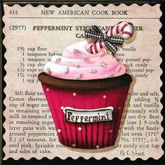Peppermint Stick Christmas cupcake