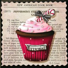 Peppermint Stick Christmas cupcake