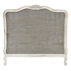 FRENCH VINTAGE CHIC STYLE GREY WHITE FRENCH KING SIZE HEADBOARD - TFI-JS2041GYAW Cost pound…
