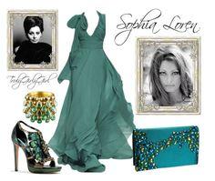 """Sophia Loren"" by trulygirlygirl ❤ liked on Polyvore featuring Menbur"