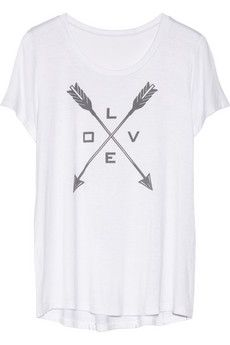 CAPITOL COUTURE BY TRISH SUMMERVILLE Love stretch-jersey T-shirt | NET-A-PORTER