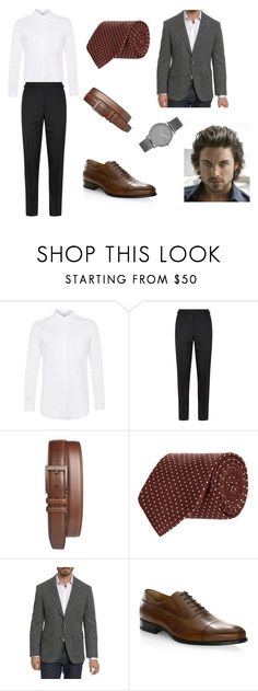 """Classic Man"" by mabad369 on Polyvore featuring Topman, Tom Ford, Mezlan, Turnbull & Asser, Robert Graham, A. Testoni, Skagen, men's fashion y menswear"