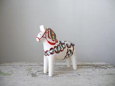 Ceramic Dala Horse Figurine