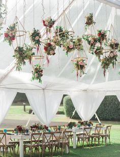 boho chic hanging geometric floral installation wedding decorations #weddingdecor #weddingideas #weddingreception #weddingflowers #weddingfloral #weddinginspiration