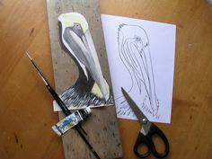 PDF digital patterns 2  Brown Pelican templates by JeanosArt, $9.00