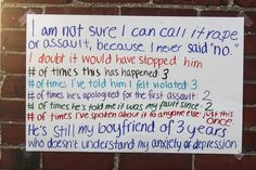 """""""Surviving in Numbers"""" project by Ali Safran  Sexual assault survivors speak out anonymously. Why anonymously? Because, often, not even those closest to you believe you. Supporting and believing assaulted individuals can propel them into a path of healing where shame and blame are forgotten."""