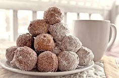 Gluten-free dohnut holes. Dohnuts have been the one thing for the past few years I have not been able to have and have een craving. Hope to make these soon!