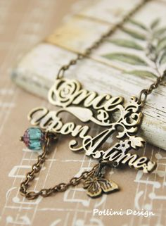 Once Upon A Time | Antique Gold Long Necklace by PolliniAtelier, $18.00  (I can actually afford that!)