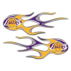 Los Angeles Lakers Micro Flames Graphics