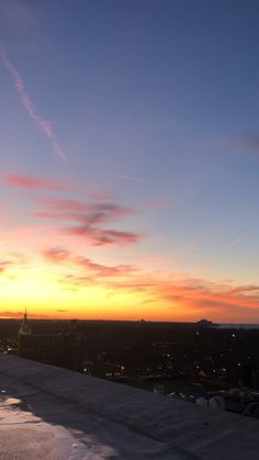 Panoramic view of the sun setting and downtown Cleveland from the Skylight Penthouse in Ohio City. Listen for the church bells in the distance! Nature Aesthetic, City Aesthetic, Aesthetic Movies, Summer Aesthetic, Aesthetic Videos, Downtown Cleveland, Night Scenery, Look At The Sky, Sunset Sky