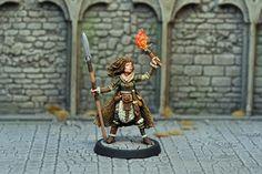 DAH19 – Human Female Barbarian   Otherworld Miniatures