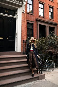 Skirt: ASOS . Cropped Cable Sweater: J.O.A. ( included in the shopbop F&F sale  with MAINEVENT16, I also got this  and ...