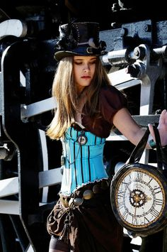 I like the shade of blue #steampunk #fashion #costumes