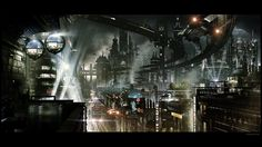 Futuristic City by JJasso.deviantart.com on @deviantART
