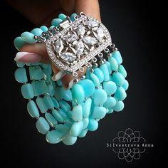 Diy Beaded Bracelets, Beaded Cuff Bracelet, Gemstone Bracelets, Gemstone Jewelry, Beaded Jewelry, Jewelry Knots, Jewelry Crafts, Jewellery, Beading Patterns Free