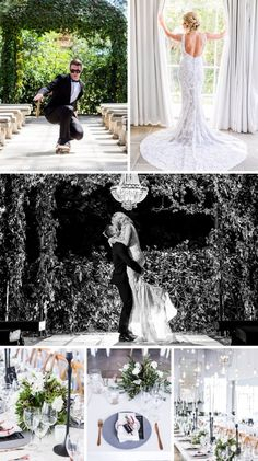 Modern Monochrome & Greenery Wedding at White Light by Daniel West South African Weddings, White Light, Mantra, Greenery, Monochrome, Bride, Couples, Wedding Dresses, Celebrities