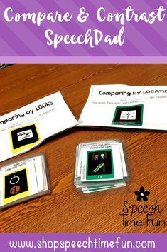 Compare and Contrast SpeechPad - help your speech students comprehend the different ways items can be compared and build vocabulary with success!