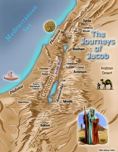 Map of the Journeys of Jacob