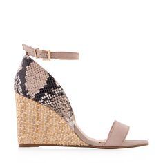 Sandália Anabela Piton: R$ 149,90  #animalprint #shoes #happywalk