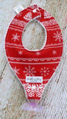 Christmas Bibs - Baby Bibs - Baby Girl Bibs - Binkie Bibs - Paci Clip – Bobble Kottz Boutique