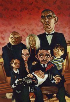 The Addams Family :-) Cartoon People, Cartoon Faces, Funny Faces, Cartoon Art, Cartoon Characters, Funny Caricatures, Celebrity Caricatures, Celebrity Drawings, The Addams Family 1964