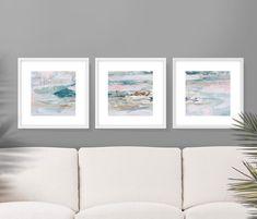 Pink Wall Art, Pink Art, Blue Art, Wall Art Sets, Large Wall Art, Wall Art Prints, Frames On Wall, Blue Gold, Navy Blue