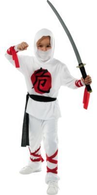 Boys White Ninja Costume