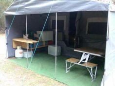 a look around my camper trailer Dirk's DIY camper trailer Diy Camper Trailer, Build A Camper, Off Road Trailer, Tent Campers, Small Trailer, Diy Roof Top Tent, Diy Tent, Doomsday Survival, Outdoor Decor