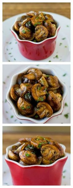 Balsamic Mushrooms and Onions are perfect on the side of steak or chicken, and you can make them while your meat rests under a tent of foil. | Culinary Hill