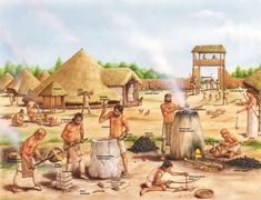 The Neolithic Revolution or Neolithic Demographic Transition, sometimes called the Agricultural Revolution, was the worlds first historically… Stone Age Art, Prehistoric World, History Of England, Early Humans, Iron Age, Ancient History, Tudor History, Middle Ages, Archaeology