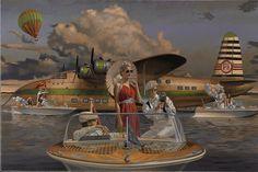 Illustrations, Illustration Art, Florence Academy Of Art, Safari, Chelsea, Flying Boat, Garage Art, Art Deco Posters, Peregrine