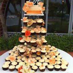 Cupcake tower for fall wedding