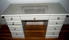 Desk or Vanity Fabric Top