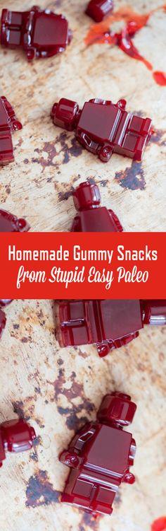 Homemade Gummy Snacks   StupidEasyPaleo.com