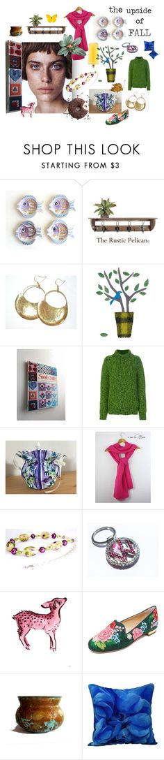 """the upside of FALL"" by seasidecollectibles ❤ liked on Polyvore featuring Verso, Calvin Klein 205W39NYC, Cadeau, Charlotte Olympia, vintage and fall2017"