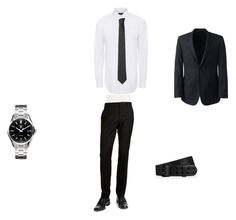 """""""date to prom"""" by marisolorozco on Polyvore featuring Paul Smith, BLACK BROWN 1826, Lands' End, TAG Heuer, Versace, Hogan, men's fashion and menswear"""