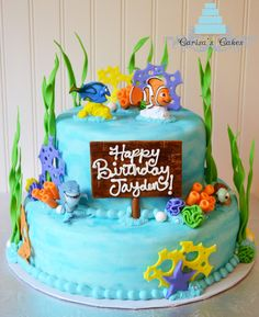 Carisa's Cakes: Two Tier Finding Nemo Cake