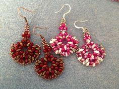 rondelle superduo earrings - Intermediate Tutorial