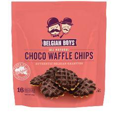 Belgian BoysTM Choco Waffle chips Get them delivered to your door order at: www.belgianboys.com Copyright Belgian Boys