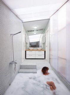 """of Would by Elii Architecture Office Pretty awesome bathtub/shower! """"House of Would by Elii Architecture Office""""Pretty awesome bathtub/shower! """"House of Would by Elii Architecture Office"""""""