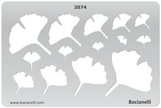 GINGKO LEAVES Design Template Stencil for Drawing Drafting Jewellery Making