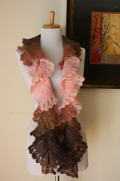 Knitted Flounce Scarf