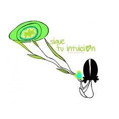 """Lámina """"Intuición""""  Respirar. Escuchar despacio, escuchar profundo. Me escucho. Escucho lo que la Vida me está queriendo decir. (...) Eeeegunon mundo!!"""