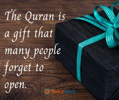Don't forget to open this precious gift.