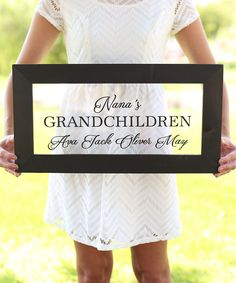 Clear Framed Grandchildren Personalized Sign