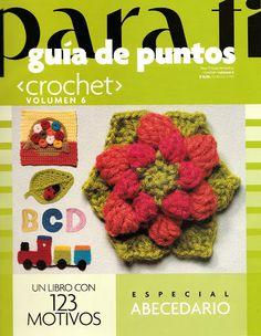 Para Ti Guia de Puntos Crochet 6 - Maria M Castells - Álbuns da web do Picasa..diagrams for motifs!
