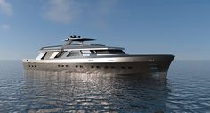 Project of a Semi-Displacement yacht influenced by the old profile of warships, which were an emblem of honour and national pride, but readapted for the present market of pleasure crafts thanks to new technologies and solutions.
