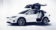 Elon Musk the Founder and CEO of Tesla Motors unveiled the Model X, a Fully Electric SUV. The SUV is as powerful as the Tesla's sedan the Model S and even matches the acceleration benchmark of sec for run. Tesla Motors, Tesla Modelo X, Bmw Z4 Roadster, Bmw X3, Nikola Tesla, Elon Musk, Mazda, Safest Suv, Motosport