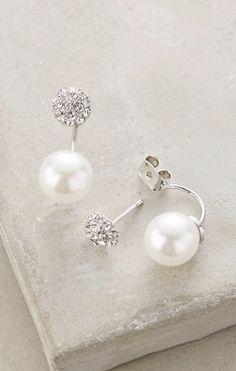 Swept Pearl Earrings #anthroregistry