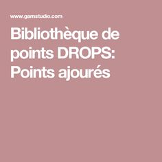 Bibliothèque de points DROPS: Points ajourés